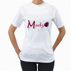 Mady Big Sister  By Amanda   Women s T Shirt (white) (two Sided)   8b0218upi6ys   Www Artscow Com Front
