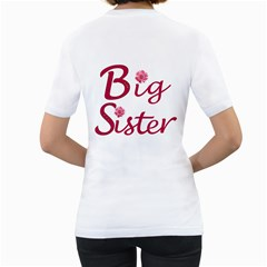 Mady Big Sister  By Amanda   Women s T Shirt (white) (two Sided)   8b0218upi6ys   Www Artscow Com Back