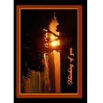 IMG_1207 rust thinking of you orange dbl 5x7 card - Greeting Card 5  x 7
