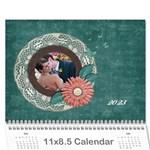 Flowers 2015 Calendar - Wall Calendar 11  x 8.5  (12-Months)
