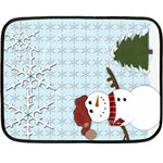 Holiday gift fleece blanket - Fleece Blanket (Mini)