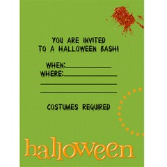 Halloween Invitation W/ Photo By Mikki   Greeting Card 4 5  X 6    8960u1t4tkni   Www Artscow Com Back Inside