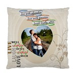 Live, Love, Laugh Pillow - Cushion Case (Two Sides)