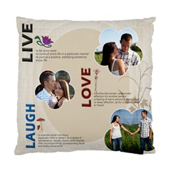 Live, Love, Laugh Pillow By Lil    Standard Cushion Case (two Sides)   Cdtq903zrx0b   Www Artscow Com Back