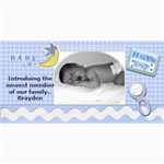 baby boy announcement template - 4  x 8  Photo Cards