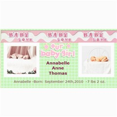 Baby Girl Announcement Template By Danielle Christiansen   4  X 8  Photo Cards   Bvh4w7swk1sx   Www Artscow Com 8 x4 Photo Card - 9
