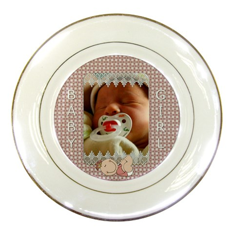 Baby Girl Plate By Lil    Porcelain Plate   Ac975gl9r091   Www Artscow Com Front