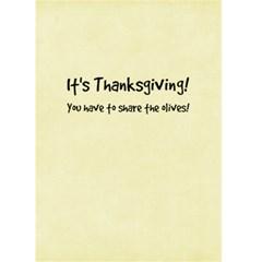 Thanksgiving    Share The Olives By Debra Macv   Greeting Card 5  X 7    J82d6phdyyt9   Www Artscow Com Back Inside