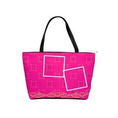 Pink Shoulder Handbag By Jorge   Classic Shoulder Handbag   6qjrqmlw4pkj   Www Artscow Com Front