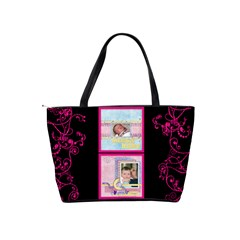 Funky Fuschia Shoulder Bag By Catvinnat   Classic Shoulder Handbag   Iruztqexiymw   Www Artscow Com Back