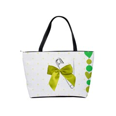 Green And Yellow   Bag By Carmensita   Classic Shoulder Handbag   Jcdu1dm7w332   Www Artscow Com Back