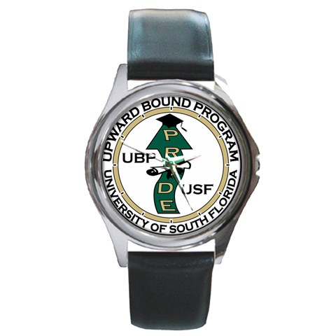 Watch By Carrie   Round Metal Watch   Ikxi0n7bitm2   Www Artscow Com Front