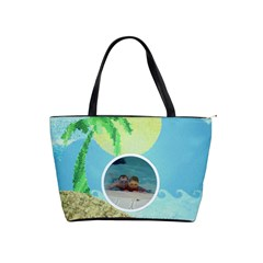Tropical Paradise Classic Shoulder Bag By Catvinnat   Classic Shoulder Handbag   5gih96gmxm1q   Www Artscow Com Front