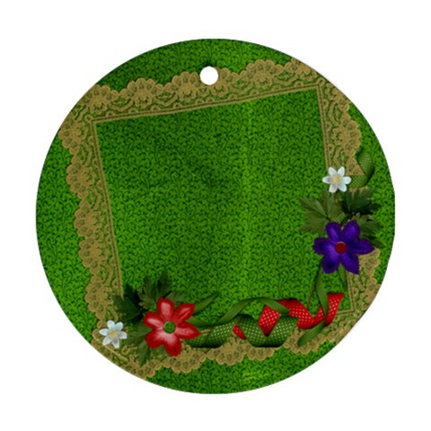 Holiday Ornament By Mikki   Ornament (round)   0g5y110y8zi9   Www Artscow Com Front