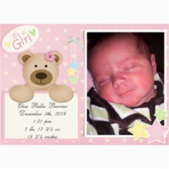 Jensens Birth Annoucements By Jamey   5  X 7  Photo Cards   Sno5ff2g4nrr   Www Artscow Com 7 x5 Photo Card - 18