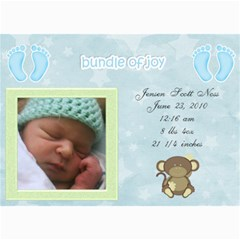 Jensens Birth Annoucements By Jamey   5  X 7  Photo Cards   Sno5ff2g4nrr   Www Artscow Com 7 x5 Photo Card - 6