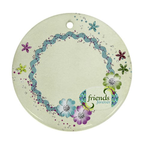 Friends Ornament By Mikki   Ornament (round)   Eiwkrpui7x5p   Www Artscow Com Front