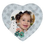 Snowman Heart ornament - Ornament (Heart)