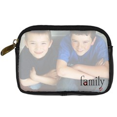 Family Camera Case By Amanda Bunn   Digital Camera Leather Case   Vtrhc0sjdknn   Www Artscow Com Front