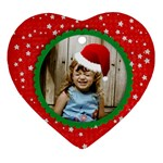 Santa Hat heart ornament - Ornament (Heart)