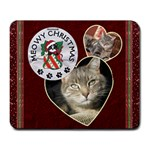 Meowy Christmas Mousepad - Large Mousepad