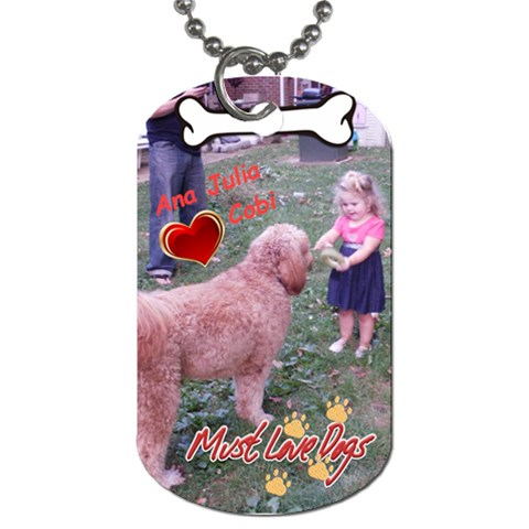 Aj N Cobi By Thalita Glanden   Dog Tag (one Side)   0aa2u2iv9p4q   Www Artscow Com Front