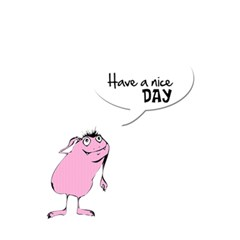Have A Nice Day     Custom Greeting Card 5  X 7  By Carmensita   Greeting Card 5  X 7    4lmrfikn2xha   Www Artscow Com Back Inside
