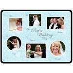 Our Perfect Wedding Day Gift Fleece Template - Fleece Blanket (Large)