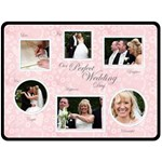 Perfect Wedding Day Gift Fleece Template Pink - Fleece Blanket (Large)