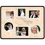Perfect Wedding Day Gift Fleece Template Peach - Fleece Blanket (Large)
