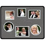 Perfect Wedding Day Gift Fleece Template almost black - Fleece Blanket (Large)