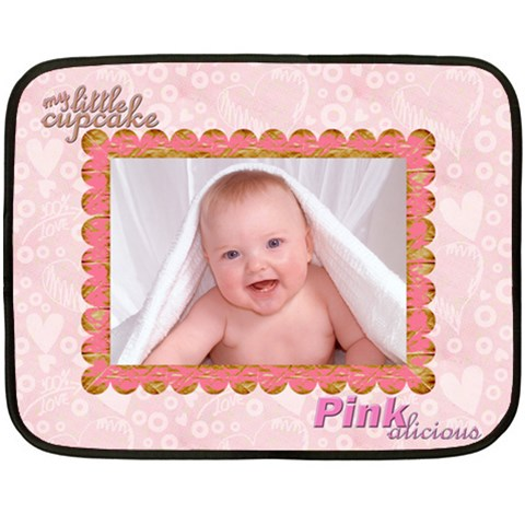100% Love Baby Girl Mini Fleece By Catvinnat   Fleece Blanket (mini)   Yqmalibikq46   Www Artscow Com 35 x27  Blanket