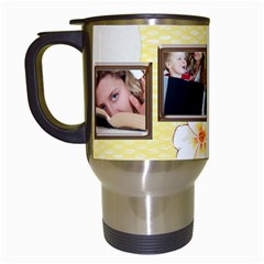 Happy Birthday Mug By Wood Johnson   Travel Mug (white)   Bfvvba7dxjoq   Www Artscow Com Left