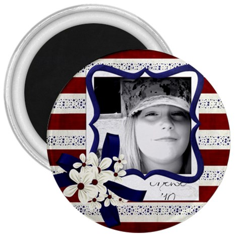 3  Patriotic Magnent By Noheya   3  Magnet   Aeo8e8z1wvu2   Www Artscow Com Front
