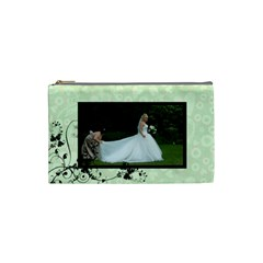 Bridal Cosmetic Bag Green By Catvinnat   Cosmetic Bag (small)   9no0dzmue4c9   Www Artscow Com Front