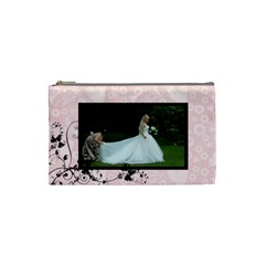 Bridal Cosmetic Bag Pink By Catvinnat   Cosmetic Bag (small)   M41q4vnr3t4s   Www Artscow Com Front