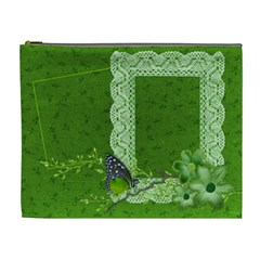 Green Butterfly By Mikki   Cosmetic Bag (xl)   Fbikhchbe0hg   Www Artscow Com Front