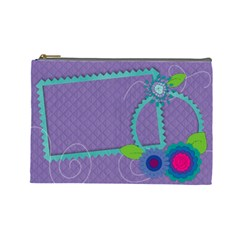 Fun Flowers By Mikki   Cosmetic Bag (large)   Diosca5tk1rj   Www Artscow Com Front