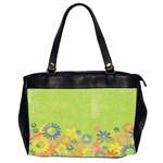 Flowers - Oversize Office Handbag (Two Sides)