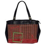 Teacher Bag - Oversize Office Handbag (Two Sides)