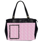 Pink Zebra - Oversize Office Handbag (Two Sides)