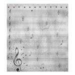 Music notes shower curtian - Shower Curtain 66  x 72  (Large)