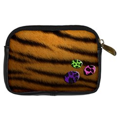 Tiger Skin   Camera Leather Case By Carmensita   Digital Camera Leather Case   Bqcksd94vmh3   Www Artscow Com Back