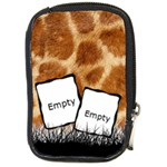 Giraffe skin - Camara leather case - Compact Camera Leather Case