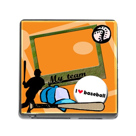 I Love Baseball   Memory Card Reader By Carmensita   Memory Card Reader (square 5 Slot)   Ose39ki12j05   Www Artscow Com Front