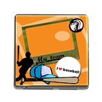 I love baseball - Memory card reader - Memory Card Reader (Square)
