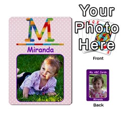 Ace Abc Family Cards For Miranda By Debra Macv   Playing Cards 54 Designs   V3gzkope2prz   Www Artscow Com Front - HeartA