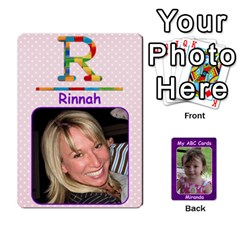 Abc Family Cards For Miranda By Debra Macv   Playing Cards 54 Designs   V3gzkope2prz   Www Artscow Com Front - Club2