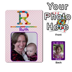 Abc Family Cards For Miranda By Debra Macv   Playing Cards 54 Designs   V3gzkope2prz   Www Artscow Com Front - Club4