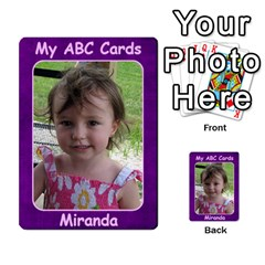Abc Family Cards For Miranda By Debra Macv   Playing Cards 54 Designs   V3gzkope2prz   Www Artscow Com Back
